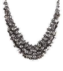 Rhinestone Short Necklace Small