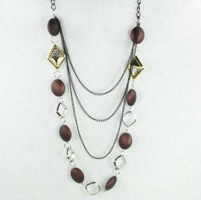 Bohemia Beading Chic Necklace Brown