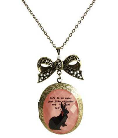 Photo Clip And Bow Pendant Necklace