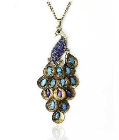Bohemia Vintage Peacock Pendant Necklace