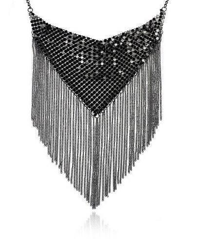 Waterfall Type Tassel Necklace