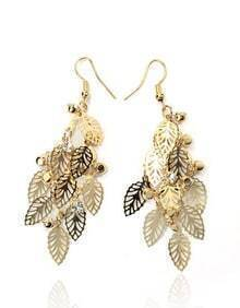 Bohemia Hollow Leaves Earring
