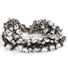 Simple Rhinestone Solid Bracelet