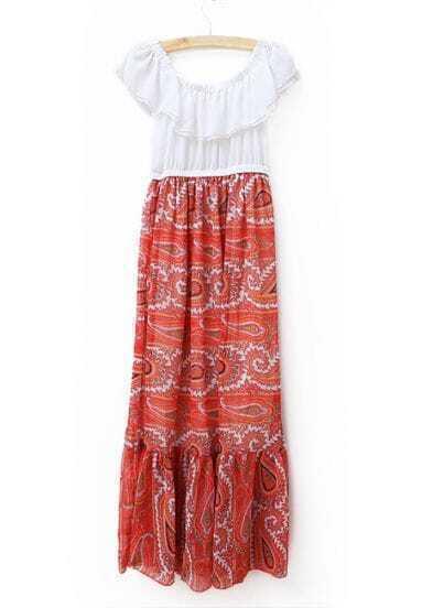 Ruffle Sleeveless Waist Chiffon Dress Orange