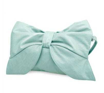Blue Vintage Bowtie Cross Body Bag