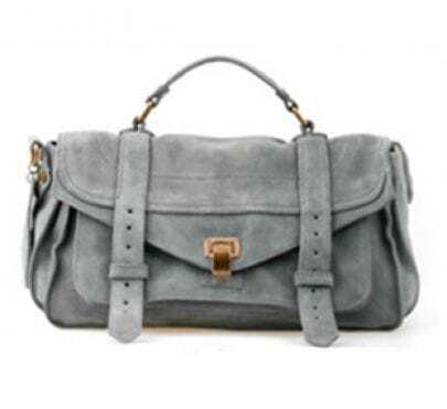 Matting Leather Grey Vintage Cross Body Bag