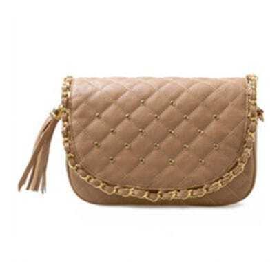 Brown Vintage Chain Shoulder Bag