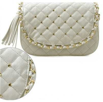 Ivory Vintage Chain Shoulder Bag