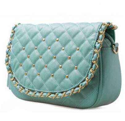 Blue Vintage Chain Shoulder Bag