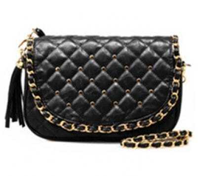 Black Vintage Chain Shoulder Bag