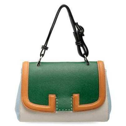 Green Handbag with Strap