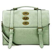 Green Vintage Cambridge Satchel