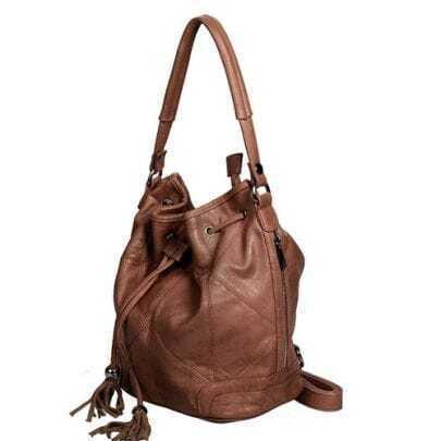 Camel Purl Shoulder Bag