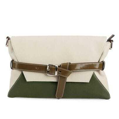 Green Envelope Clutch Shoulder Bag
