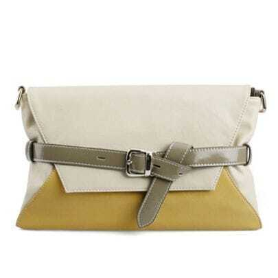 Yellow Envelope Clutch Shoulder Bag