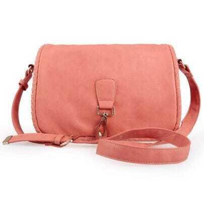 Pink Vintage Weave Shoulder Bag