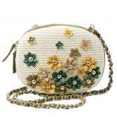 Green Straw Chain Shoulder Bag