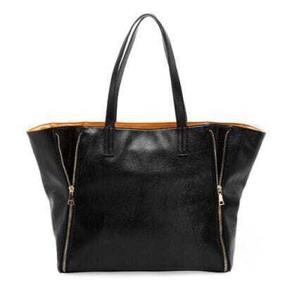 Black Comuting Shoulder Bag