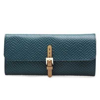 Blue Leather Clutches