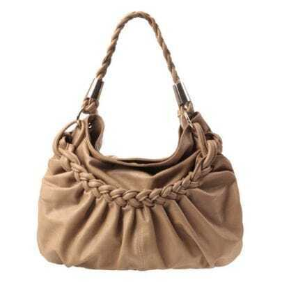 Brown Weave Shoulder Bag