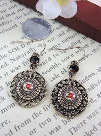 Vintage Pattern Simple Round Earring