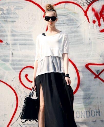 White Textured Yarn Layers Short Sleeve T-shirt