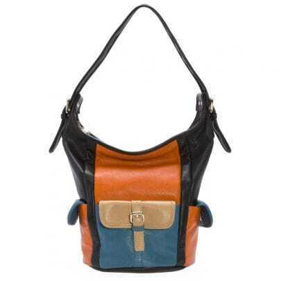 Black Vintage High Capacity Cross Body Bag