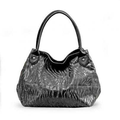 Grey Zebra Srtipe Tote Bag