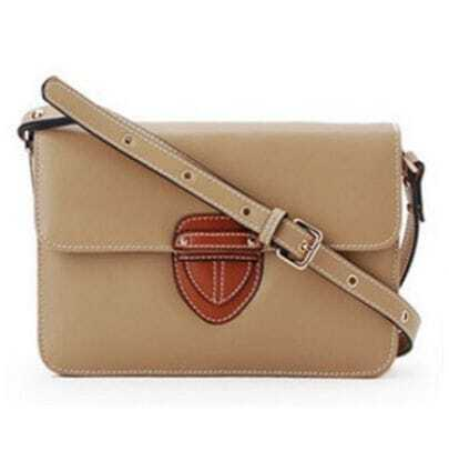 Camel Leather Cross Bady Bag