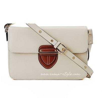 White Leather Cross Bady Bag