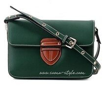 Green Leather Cross Bady Bag