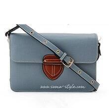 Grey Leather Cross Bady Bag