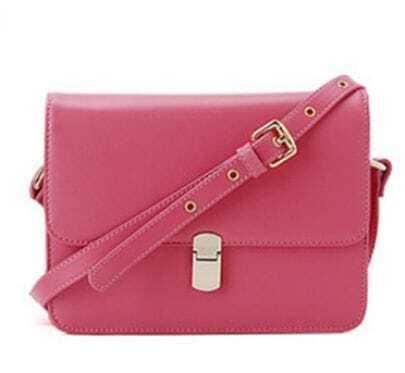 Pink Vintage Leather Cross Bady Bag