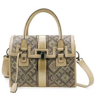 Brown Straw Shoulder Bag