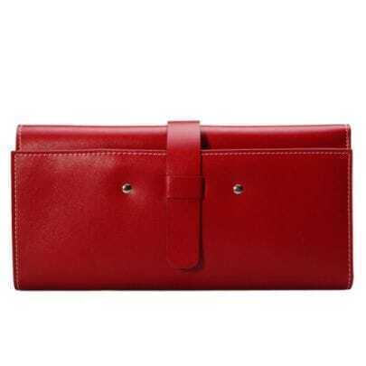 Modern Red Leather Clutches