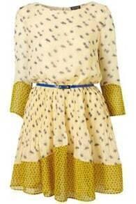 Print Patchwork Chiffon Dress