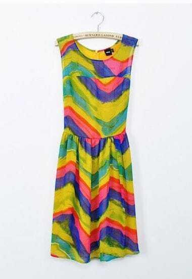 Gradient Stripe Tank Dress