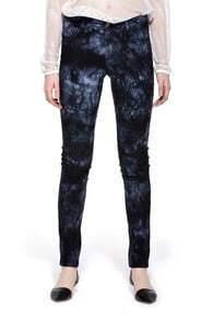 Printed Cotton Skinny Pants