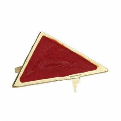 Red Triangle Stone Ring