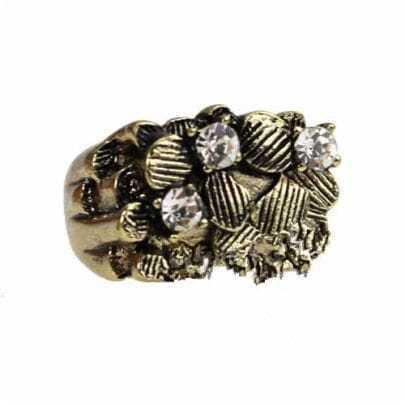 Copper Vintage Rhinestone Ring