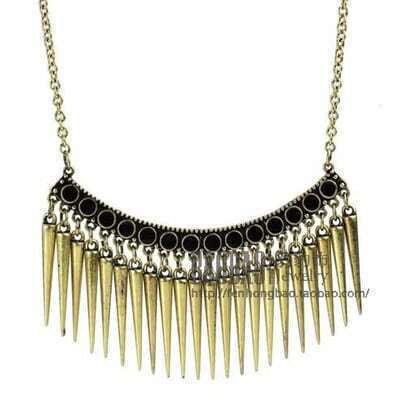 Vintage Copper Overstate Stabs Necklace