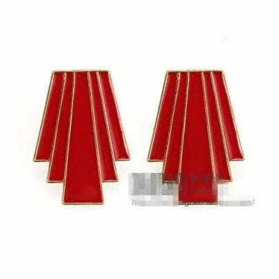 Red Individuality Earrings