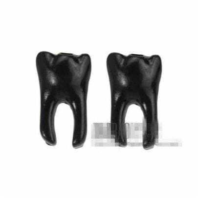 Black Tooth Earrings