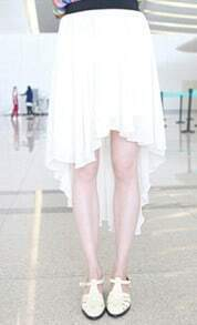 White Irrrgular Sweep Chiffon Skirt