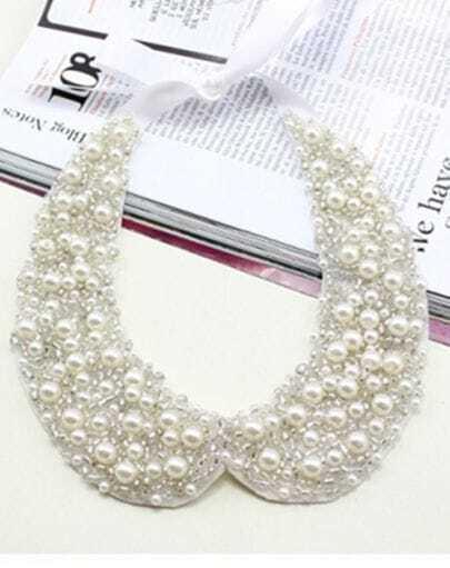 Pearl Modern Silk Ribbon Collar