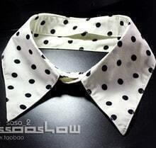 Apriot Back Black Dot Print Shirt Collar