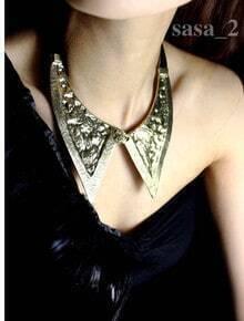 Gold Metal Modern Collar