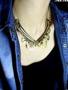 Fashion Gold Metal Collar
