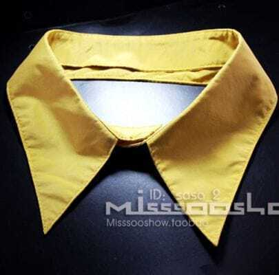 Yellow Print Shirt Collar