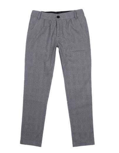 Vintage Plaid Haren Pant Grey